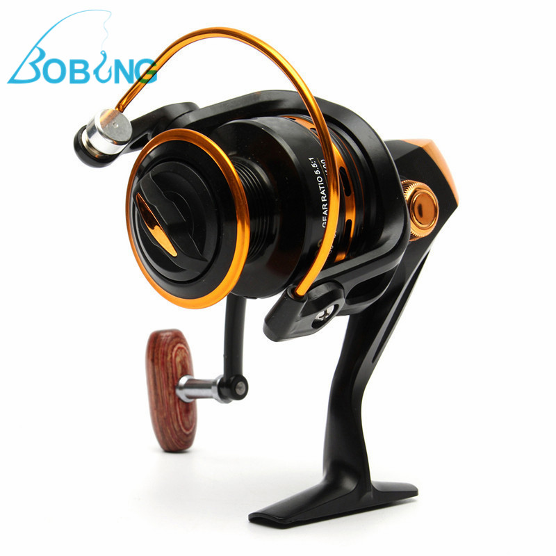 Bobing YA2000-5000 13BB 5.5:1 Spinning Fishing Reel Bait Black Runner Adjustable Casting Fishing Reels Wheels Tackle Line