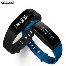 SCOMAS V07 Смарт браслет Артериального давления шагомер Смарт запястье монитор Сердечного Ритма фитнес-трекер Водонепроницаемый СМАРТ-ЧАСЫ