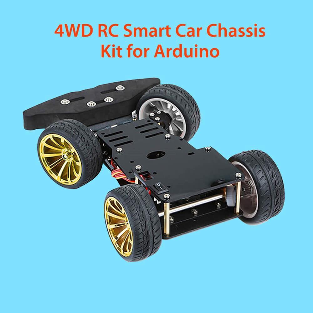 Elecrow 4WD S3003 Metal Servo com Kit Chassis Do Carro Inteligente para Arduino Motor Da Engrenagem Do Metal 25MM Plataforma Do Robô DIY kit Carro Robô