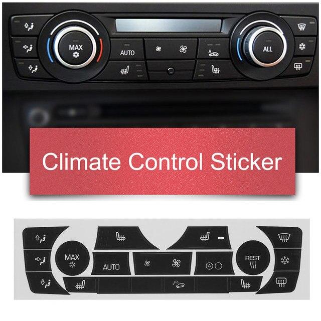 車のステッカー AC 気候制御ボタンステッカーパネルボタン修理デカールキット 2006 2011 bmw E90 E91 E92 330I レギュラータイプ