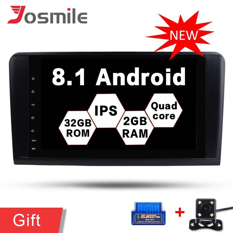Android 8.1 Quad Core Voiture DVD Lecteur 2g + 32g Pour Mercedes/Benz W164/ML300/ ML350/ML500/GL320/GL350 OBD WIFI Multimédia GPS Navi FM