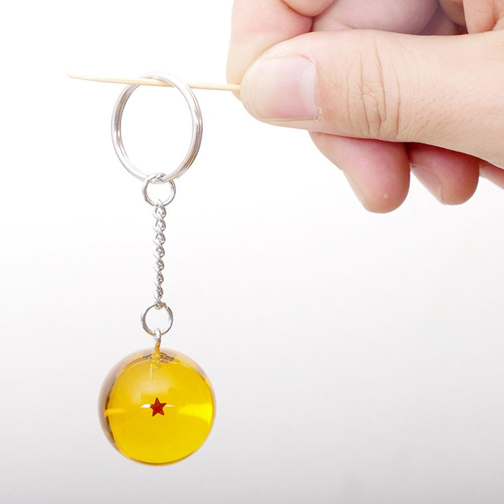 Anime DBZ Dragon Ball Z Cosplay Crystal Ball Stars Keychain Keyring Pendant