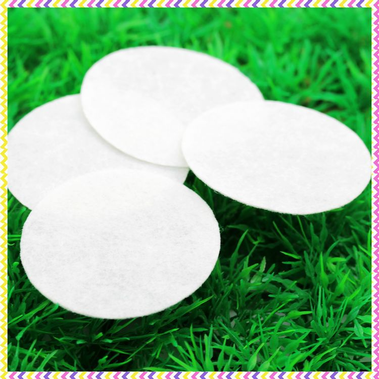 2'' Free shipping white <font><b>felt</b></font> circles patches hairbow decoration diy wholesale OEM <font><b>50mm</b></font> P3453 image