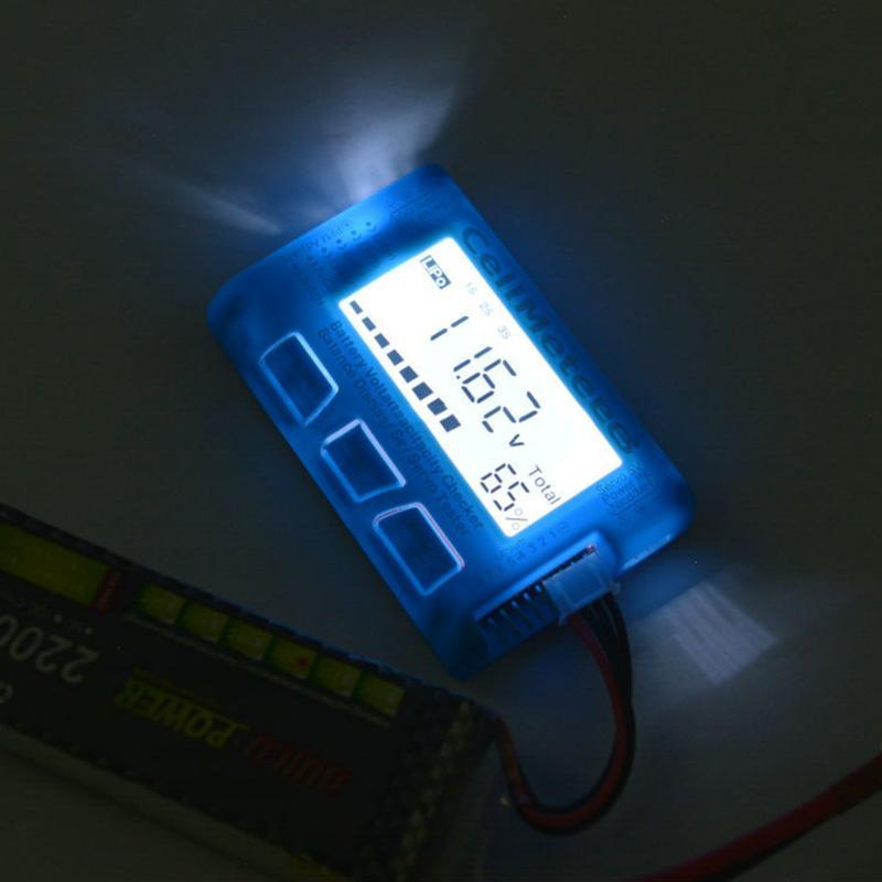 LDC Digital Battery Capacity Checker CellMeter RC CellMeter8,2-8S,4-8S Servo LiPo Li-lon NiMH Battery Tester with LED Backlight f01974 digital battery capacity checker cell meter for nicd nimh li po life li lon akku cellmeter 7