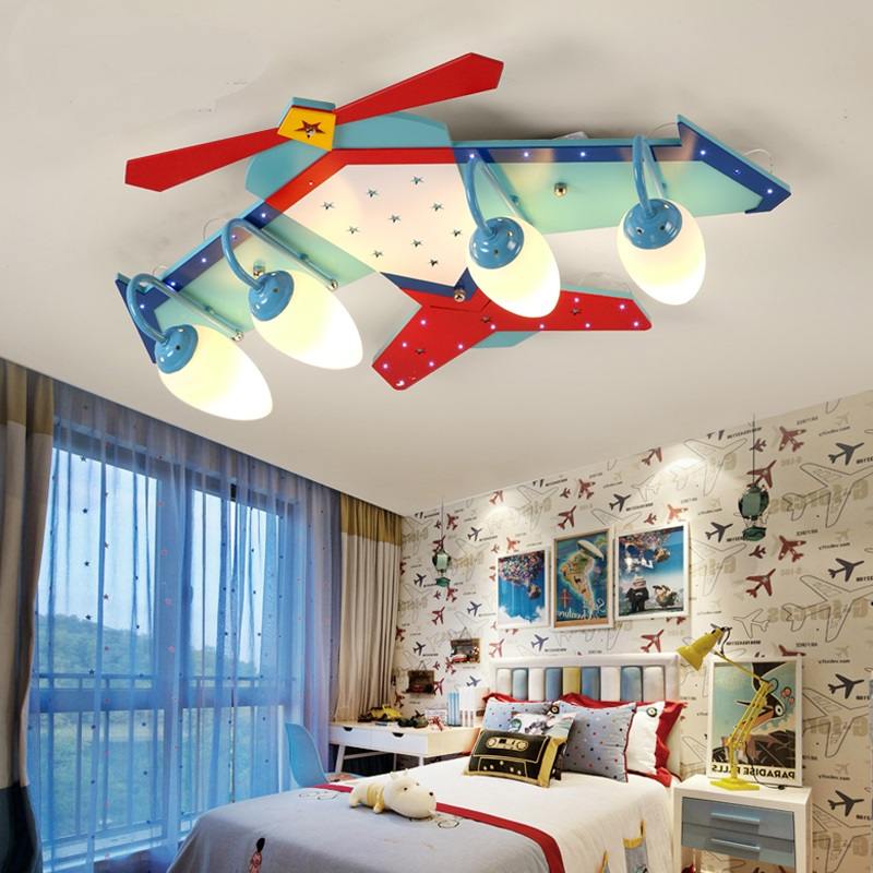 Simple creative children ceiling boy cartoon girl bedroom kindergarten led Ceiling Lights airplane lamps and lan LU628 ZL437 image