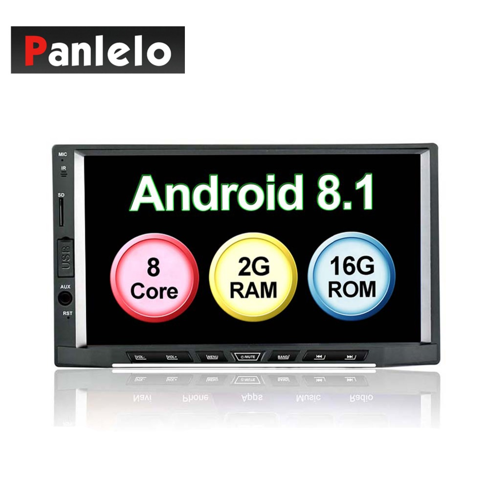 Panlelo S15 Android 8.1 Car Radio Stereo Octa Core 2G 16G GPS Navigation AM/FM/RDS Auto Radio 7 inch IPS Capacitive Touch Screen image