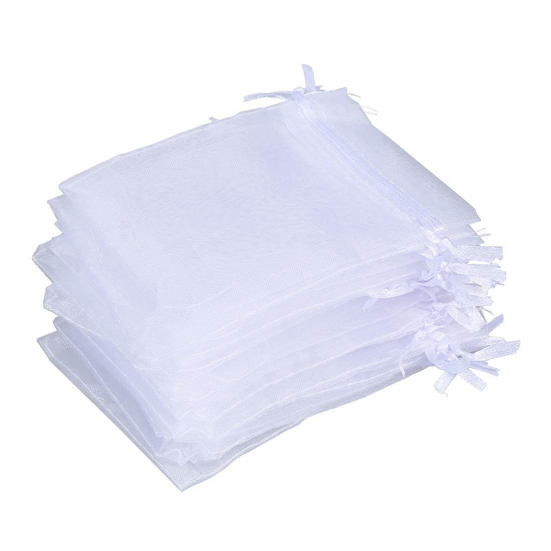 20 X Organza Drawstring Jewellery Gift Bag Pouch White