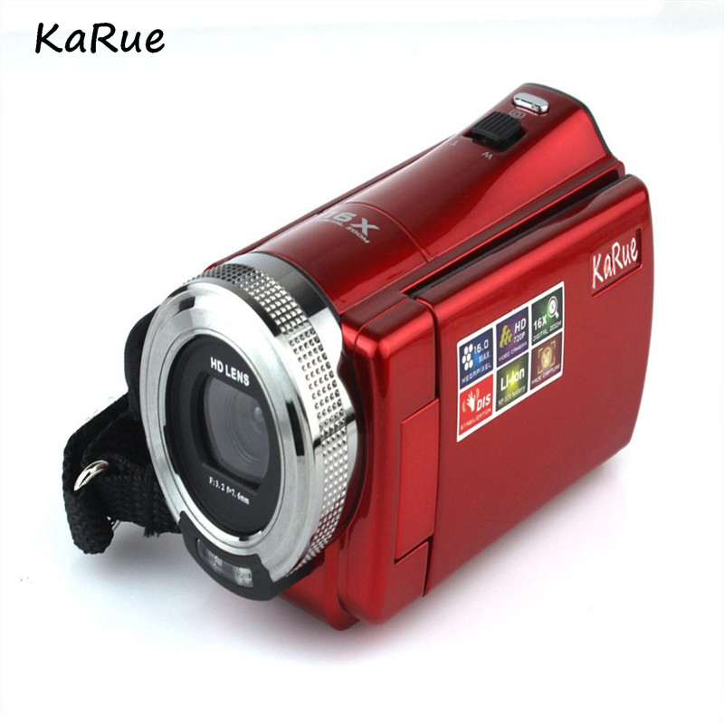 karue Portable Digital Video Camera Photo 16MP 16X 2.7 CMOS SD Card Voice Record Anti shake Video Camera DV Camcorder
