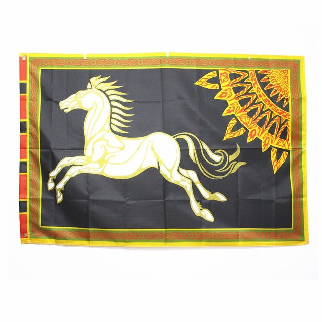 Black ROHAN Lord of the Rings Banner Horse Flag Large 96*144 60*90cm Halloween Decoration Christmas Gift Party Supplies Men Boys