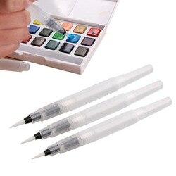 3 штуки разного размера многоразовые ручки цветные карандаши чернильные ручки чернила мягкие водные цветные кисти краски кисти Краски това...