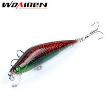 1Pcs Fishing bait Minnow 8cm 8.2g Dive artificial bait hardplastic Hard Lure wobbler Bass bait fishing tackle Crap YR-417