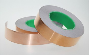 High Quality 25mm X 30m Single Adhesive Conductive Copper Foil Tape EMI Shield Copper Strip High Temperature Tape Tape