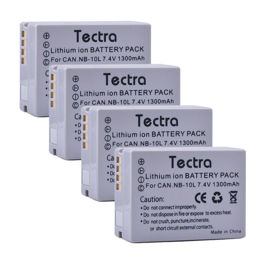 Tectra 4pcs NB 10L NB 10L Camera battery for Canon G1X G15 G16 SX40HS SX50HS SX60HS SX40 SX50 SX60 HS Camera