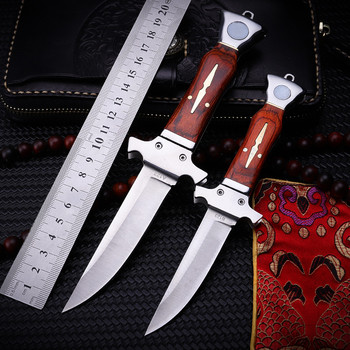 New Hot Sale Outdoor Tactical Folding Knife Self-defense Wilderness Survival Camping High Hardness Wood Handle Fruit Hunt Knives stenzhorn new damascus black antelope folding knife outdoor portable field army high hardness wilderness survival small knives