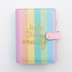 Image 5 - Lovedoki Rainbow Spiral Binder Notebook 2020 Planner A5 Organizer Diary Cute A6 Dokibook Agenda School Supplies Stationery Store