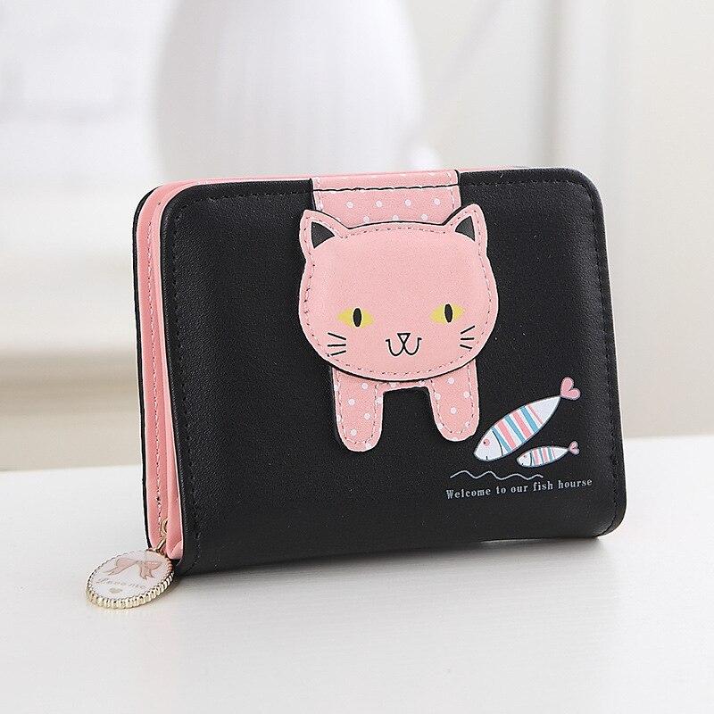 mulheres gato bonito carteira pequena Comprimento do Item : 12cm