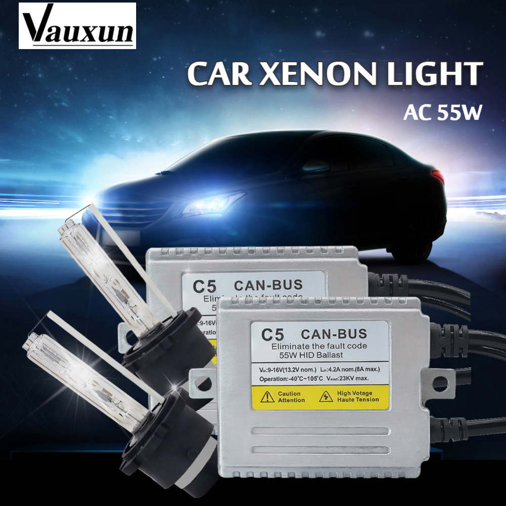 D2S XENON HID KIT AC C5 55W HID Xenon Kit Slim Ballast D2S/D2C 4300k 6000K 8000k Headlight Replacement Bulbs hid kit стоимость