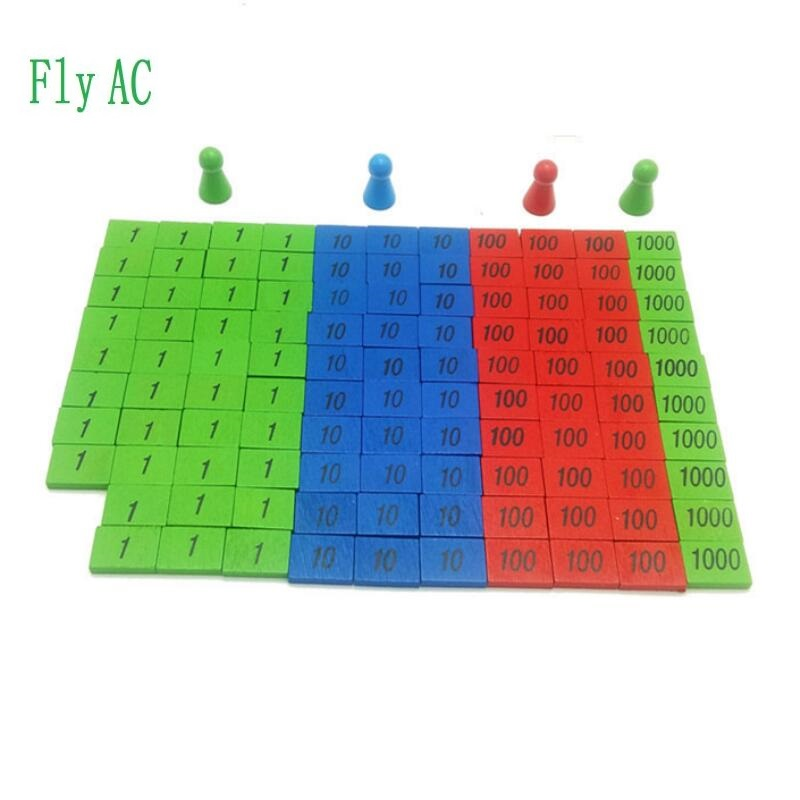1 SET Children Wooden Montessori Materials Learning To Count Numbers  Early Education Teaching Math Toys