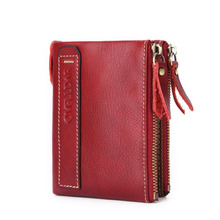 Wallet Men Leather Genuine Cow Man Wallets With Coin Pocket Purse leather Money Bag Male