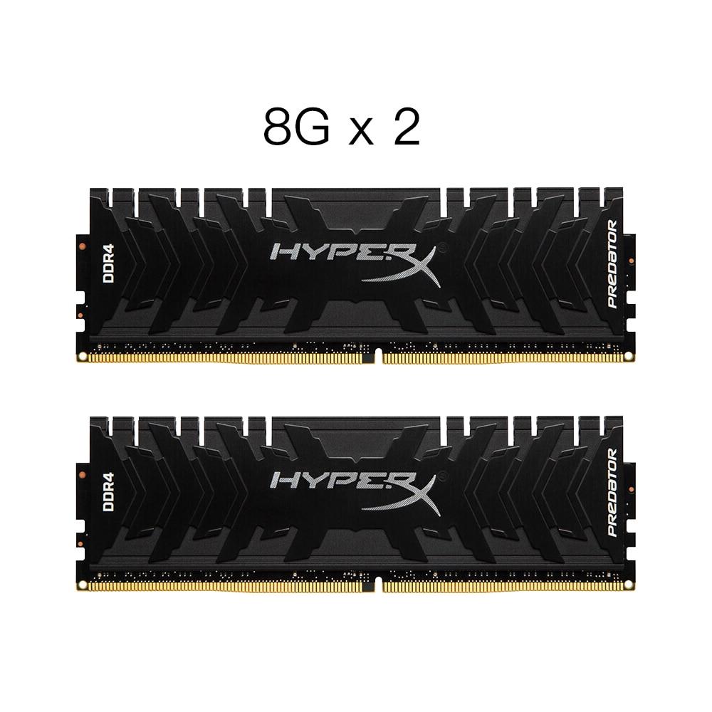 Kingston HyperX Predator Black 16GB DDR4 RAMs 3000MHz CL15 DIMM Memory Ram ddr4 8GBX2 Intel Memory Red ram Computer Memory Gamer original kingston hyperx hx424c15fb 16 16gb memory bank