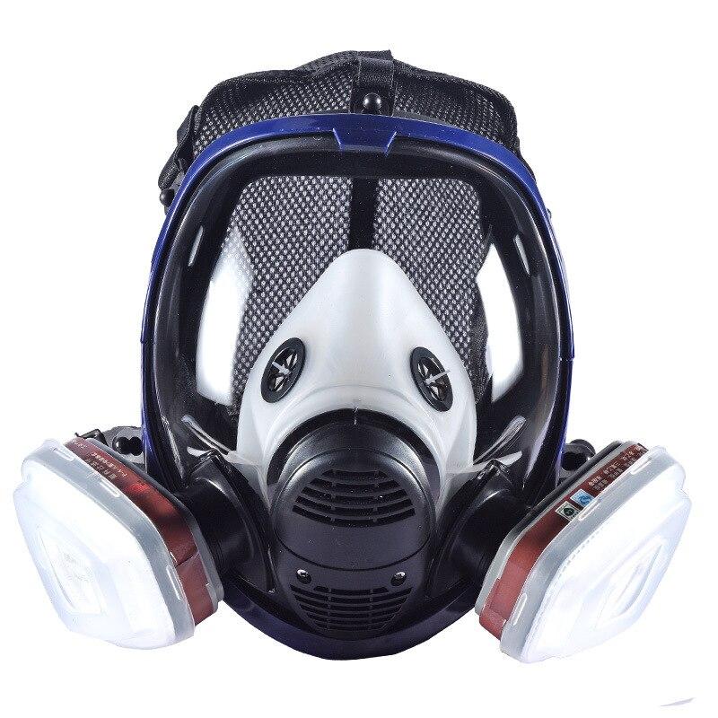 Industrial 7-en-1 6800 máscara de Gas respirador con cartucho de filtrado para la pintura de pulverización similares para 3 M 6800