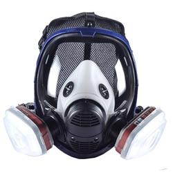 Nuevo respirador Industrial 7 en 1 6800 mascarilla de Gas completa con cartucho de filtrado para pintar pulverización Similar para 6800 3M