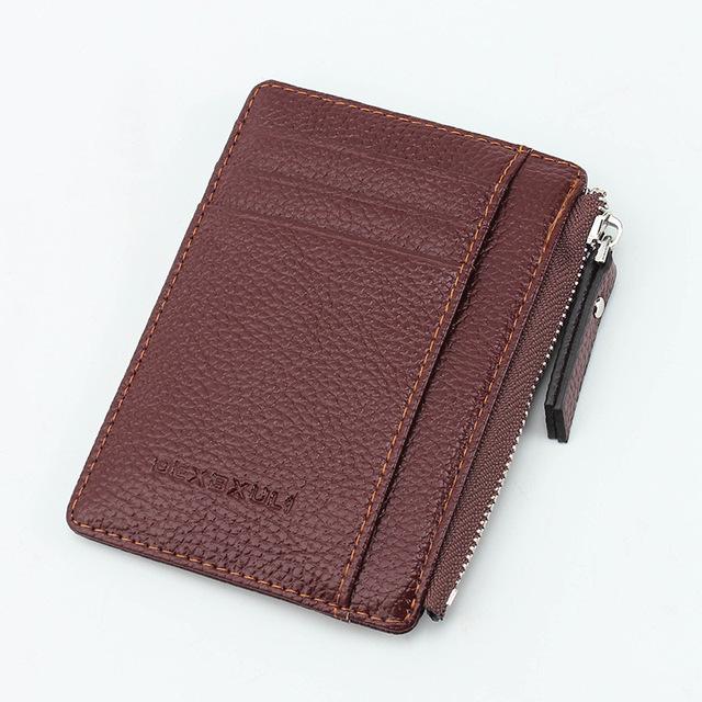 Ultrathin Zipper ID Card Wallet