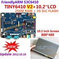 Free shipping FriendlyARM Development Board, Samsung S3C6410 ARM11,TINY6410 V2+10.2 inch Touch Screen,256M RAM+1G Flash, Android