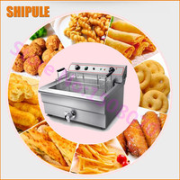 2016 Stainless Steel 30 L 1 Tank Electric Heating Deep Fryer Commercial Fried Chicken Potato Frying
