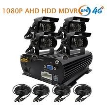 Бесплатная доставка 4 канала GPS 4 г 1080 P AHD 2 ТБ HDD жесткий диск SD Видеорегистраторы для автомобилей MDVR видео Регистраторы в реальном времени Мониторы заднего вида автомобиля Камера