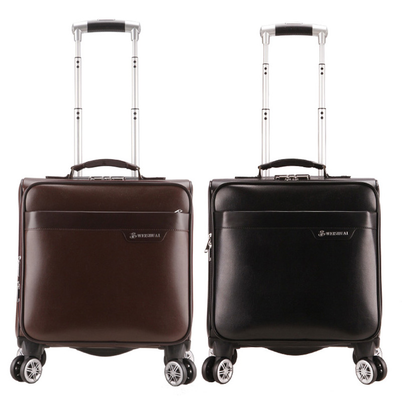 ФОТО High Quality Luggage Bag Spinner Wheels Business Travel Suitcase Trolley Travel Bags Rolling Luggage Boarding Box for Men