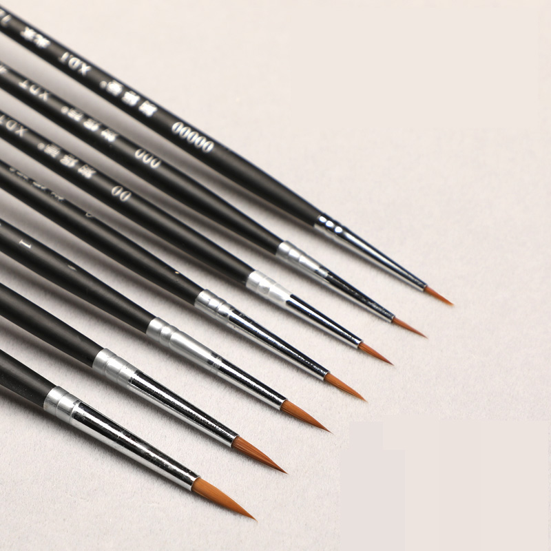 7Pcs/Set Fine Hand-painted Hook Line Pen Watercolor Drawing Art Paint Brush Art Supplies Nylon Brush Painting Pen цена