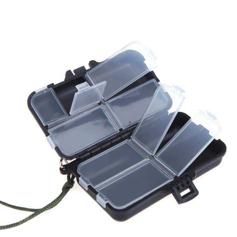 Fishing Tackle Box Fly Box Pesca Filatrice Esca Pesciolino Popper 9 Scomparti