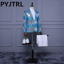 (Jacket+Pants) Stage Suits Blue