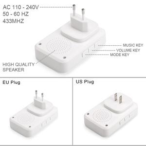 Image 4 - QIACHIP autoalimentado hogar impermeable timbre inalámbrico sin batería luz LED 200 M campana del hogar 38 melodías 4 niveles volumen de la puerta