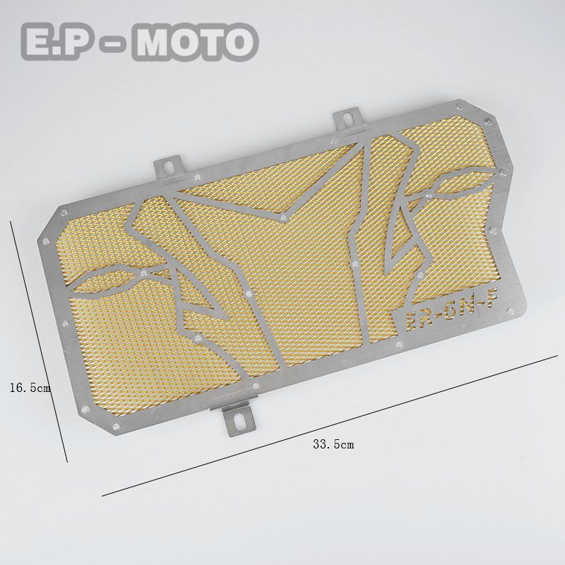 Motorcycle Radiator Grille Guard Protector Cover For ER6F ER6N 2010 2011 2012 2013 2014 2015 Oil Cooler arashi radiator grille protective cover grill guard protector for suzuki gsxr1000 2009 2010 2011 2012 2013 2014 2015 2016