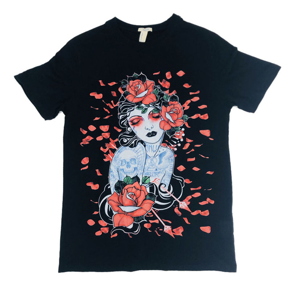 LAUKEXIN USA Big and Tall SIZE Japanese Beautiful Floral Women Girl Fashion  Printed T Shirt Men Women Summer Brand Top Clothing-in T-Shirts from Men s  ... 9f7f45ce0b59
