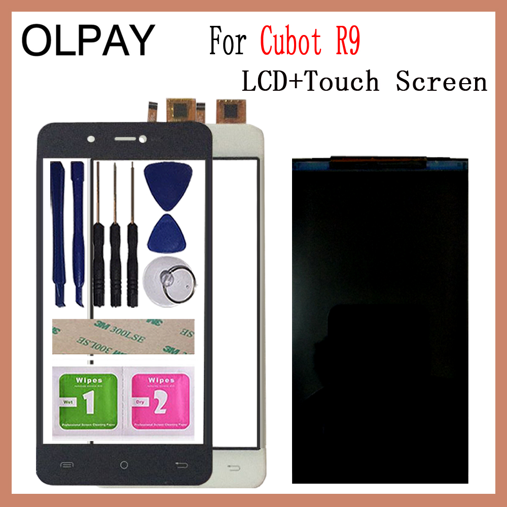 OLPAY 5.5 New Original For Cubot R9 CellPhone LCD Display + Touch Screen Digitizer Assembly Replacement Glass Free ToolsOLPAY 5.5 New Original For Cubot R9 CellPhone LCD Display + Touch Screen Digitizer Assembly Replacement Glass Free Tools