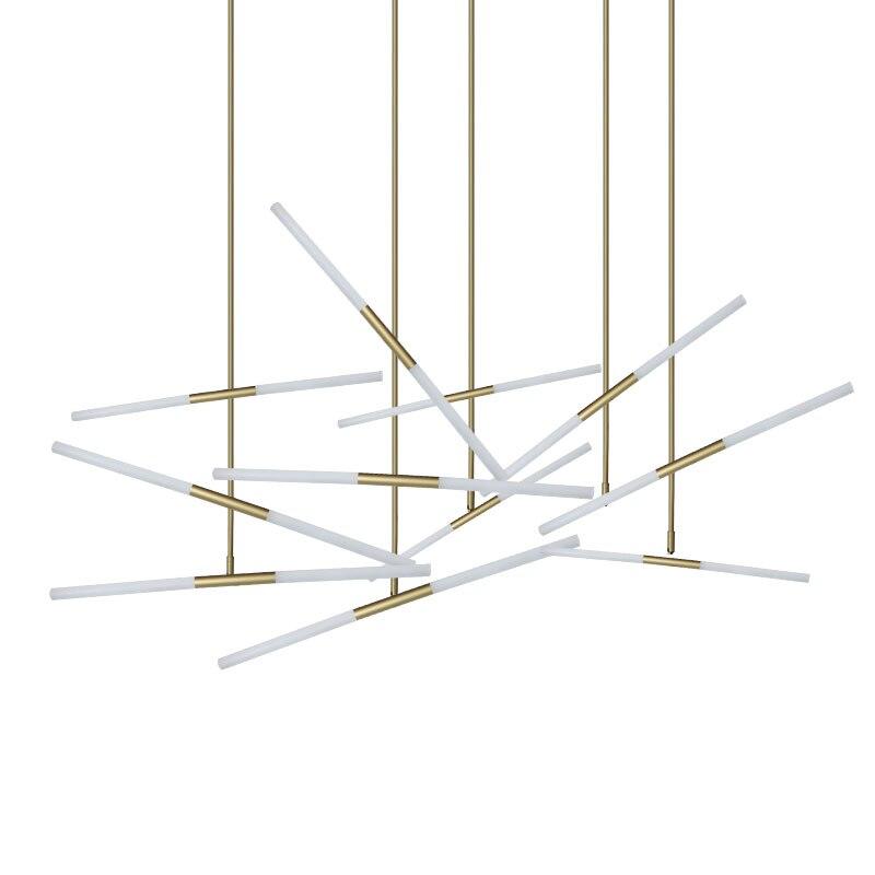 цена Creative 2/4/6 Lights Heads Modern Hill Agnes Diner / Cafe Pendant Light Minimalist Branch Nordic Lindsey Lights Decorative lamp онлайн в 2017 году