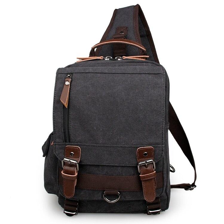 New Arrival Unisex Vintage Canvas Chest Bag Sling Bag for Boy Satchel Bag 9031A/K/C casual canvas satchel men sling bag
