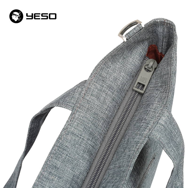 YESO Fashion Casual Men Crossbody Bags 2018 New Large Capacity Women Shoulder Bags Waterproof Oxford Gray Ladies Shoulder Bags