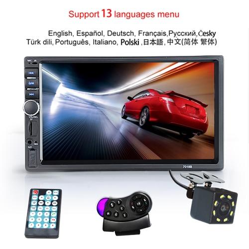 "Hipppcron Автомагнитола HD "" сенсорный экран стерео 2 Din Bluetooth FM ISO мощность SD USB Aux вход Mp5 плеер нет или с камерой - Цвет: Type 4"