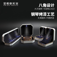 Free shipping High end packaging with lights wedding ring LED light emitting bracelet pendant necklace jewelry boxes
