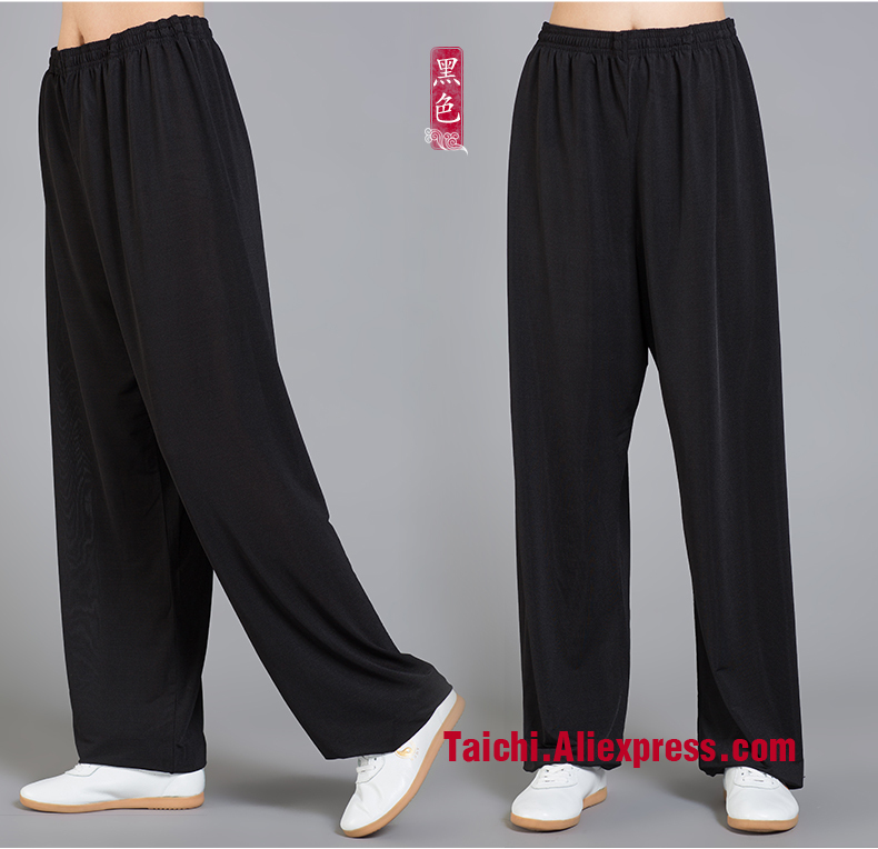 Modal Tai Chi Pants Woman and Man Wu Shu Pants Spring And Summer Martial Art Yoga Pants S-XXXL 7 Color