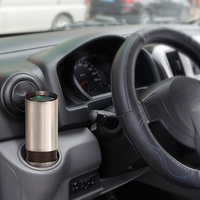 Portable Car Air Ozonizer Purifier Deodorizer Ionizer Humidifier Replaceable Activate Carbon Filter Intelligent Speed Low Noise