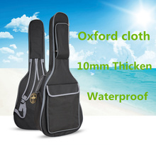 A prueba de agua 10 mm Thicken38 39 40 41 pulgadas Guitar Bag Case mochila Guitarra Bass accesorios piezas de transporte funda de tela Oxford negro