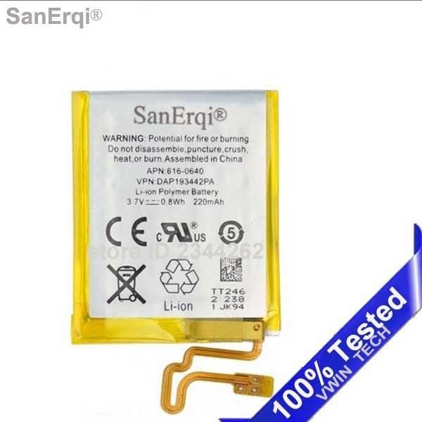 Para iPod Nano 7 7th Gen batería 3,7 V Li-ion reemplazo de la batería 330 mAh teléfono móvil con herramientas gratuitas