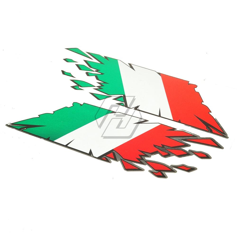 Motorrad Tank Aufkleber Italien Flagge Italia Aufkleber Fall