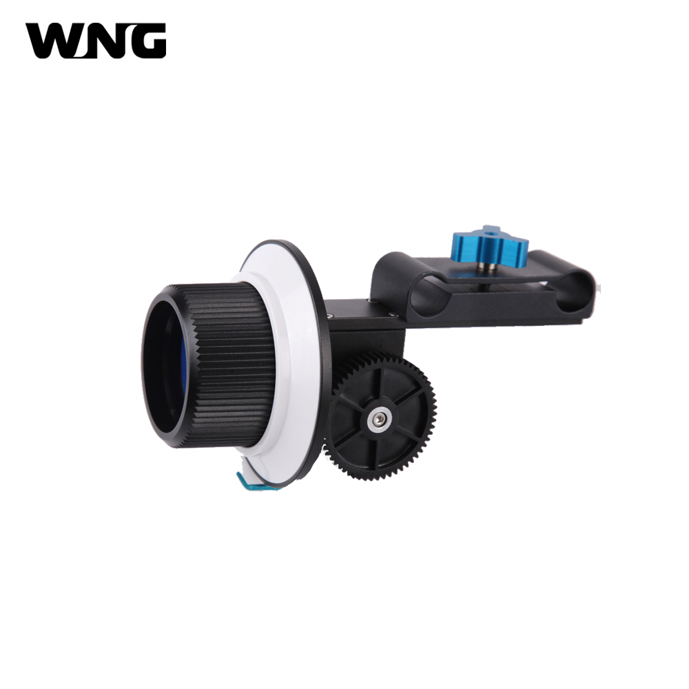 F1 Universal Follow Focus With Gear Ring Belt for 15mm Rod Support for Canon Nikon Sony DSLR Camera and Camcorder Rig neewer follow focus with gear ring belt for canon and other dslr camera camcorder dv video fits 15mm rod film making system