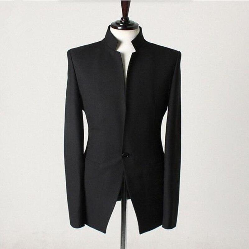Homens ternos jaqueta gola mandarim Senhores Handmade do Casamento do noivo  smoking Homens colete Custom Made Men Suit Jacket b8b07fc0441ee